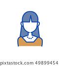 여성 상반신 정면 표정없이 49899454