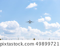Airplane flying from the airport 49899721