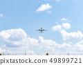 飞机从机场飞行 49899721