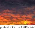 오렌지 하늘 49899942