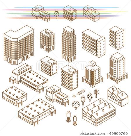 各種建築物的插圖 49900760