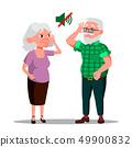 Deaf Senior Man And Woman Vector Cartoon Characters 49900832