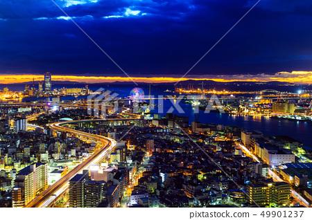 Night view of Osaka 49901237