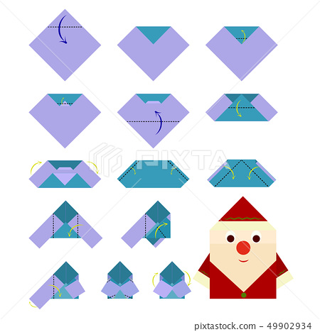 How To Make An Origami Santa Claus - YouTube | 468x450