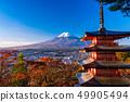 Prefecture จังหวัดยามานาชิ》 รับแสงแดดยามเช้าใบไม้เปลี่ยนสีจากสวนชิน - คุรายามะอาซามะ, เจดีย์ชูริโอะ, ชินไซสึ 49905494