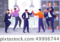 Office Employee Characters Rejoice for New Project 49906744
