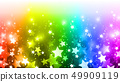 彩虹色的星背景 49909119