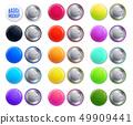 Realistic Mockup Badge Colorful Icon Set 49909441