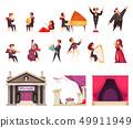 Opera Theater Cartoon Set 49911949