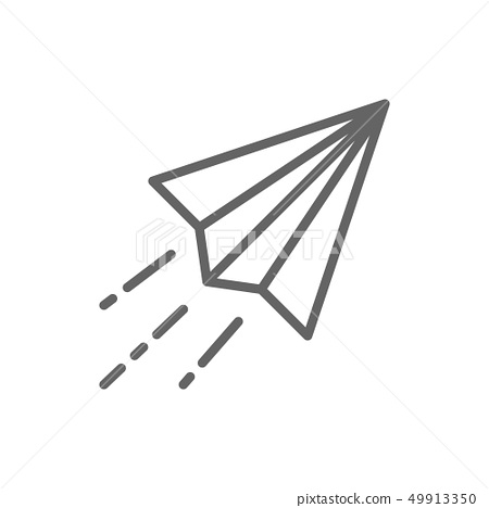 Step By Step Instructions How To Make Origami Plane. Royalty Free ... | 468x450