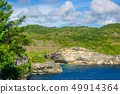Rocky Tropical Coast in Sunny Day 49914364