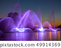 City Fountain with Evening Illumination 49914369