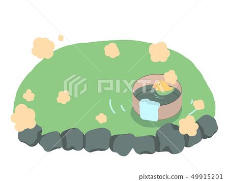 热水,岩浴,鸭子玩具和浴缸 49915201