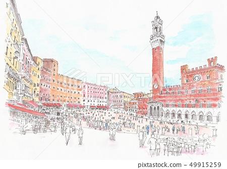 世界遺產街 - 意大利 - 錫耶納 - 坎波廣場 49915259