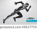 男性 男 跑步 49917759