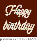 "Tempting  typography. Icing text. ""Happy birthday"" 49918270"