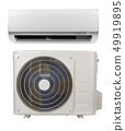 air conditioner on white 49919895