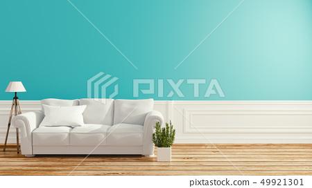 Mint room interior design .3D rendering 49921301