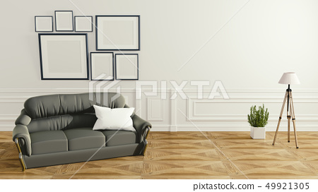 modern living room interior with sofa lamp 49921305