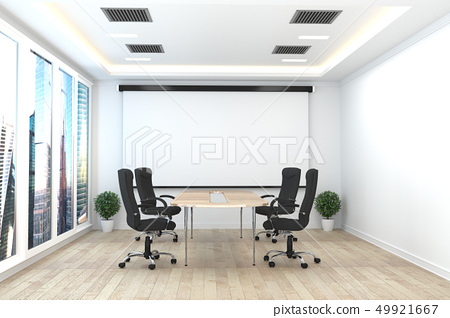 Office business - beautiful boardroom meeting  49921667