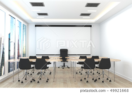 Office business - beautiful boardroom meeting  49921668