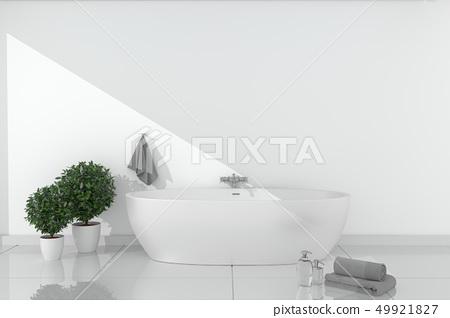Bath room Interior - white empty room concept 49921827