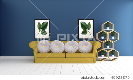 Mock up, hipster living room interior design 49922879