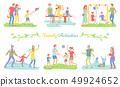 Family Activities Happy Parents and Children Set 49924652