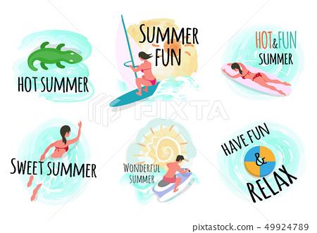 Wonderful Summer Hot and Fun Relax Summertime 49924789