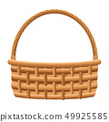 wicker basket icon 49925585