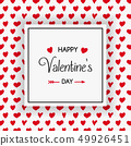 Design of Valentine's Day greeting card with 49926451