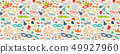 Concept of seamless pattern with party 49927960