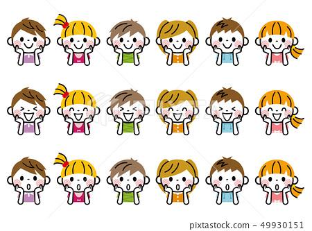 Children sticking to the cheeks 49930151