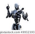 Humanoid robot perming3DCG Illustration material 49932393