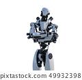 Humanoid robot perming3DCG Illustration material 49932398