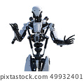 Humanoid robot perming3DCG Illustration material 49932401