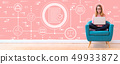 Compliance theme with woman using a laptop 49933872