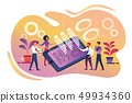 Company Teamwork, Cooperation, Smart Technology 49934360