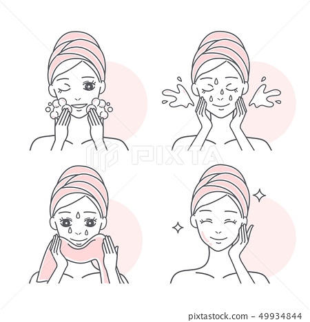woman washing her face 49934844