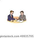 계약 서류에 사인을하는 직장인 49935705