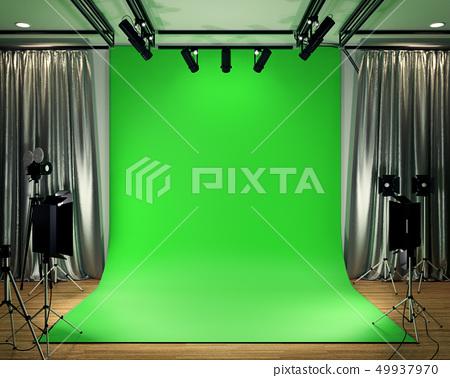 Studio BIg - Modern Film Studio with Green Screen 49937970