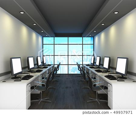 Office in modern style on wooden floor 49937971