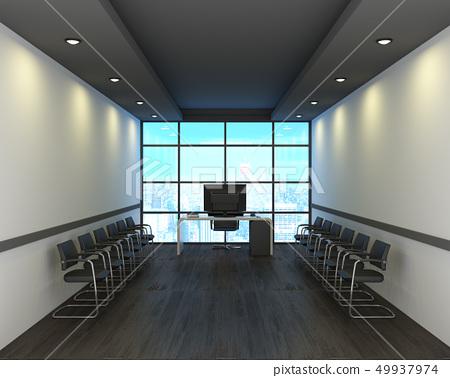 Office in modern style on wooden floor 49937974