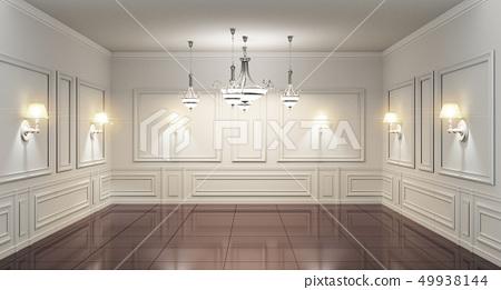 Beautiful classical luxury white interior 49938144
