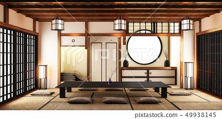 Japanese Style Room Interior Design Stock Illustration 49938145 Pixta