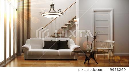 modern living room interior with sofa 49938269