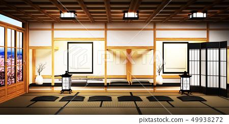 Room Design Japanese-style.3D rendering 49938272