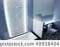 Bright bathroom Design tiles blue modern style 49938404