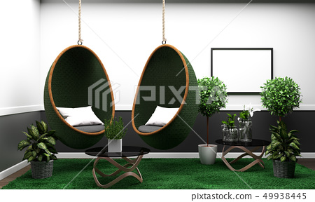 Room modern tropical style with composition 49938445