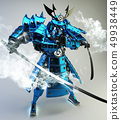 Samurai robot warrior design .3D rendering 49938449